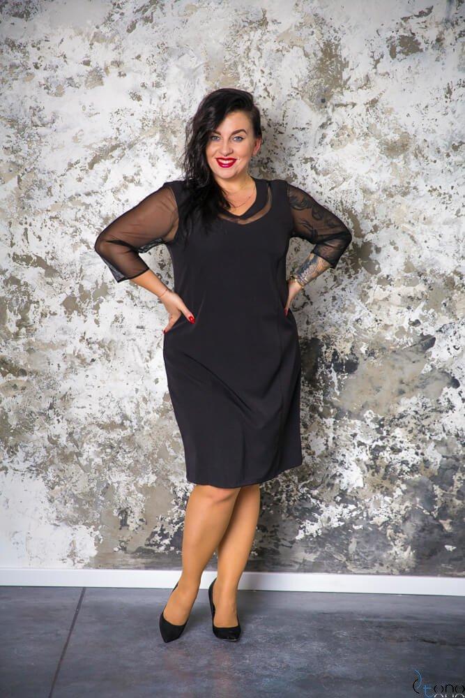 Czarna Sukienka AUGURA Plus Size