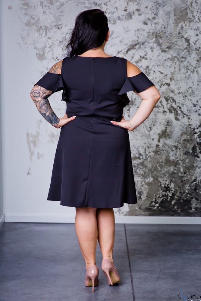 Czarna Sukienka BARBIE Plus Size