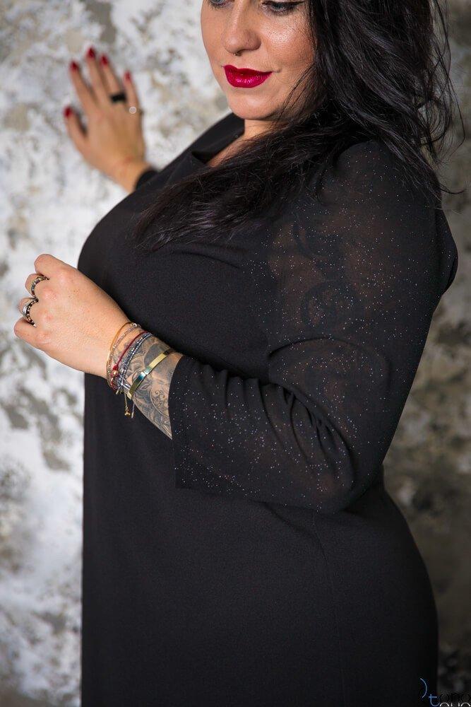 Czarna Sukienka BREJDY Plus Size