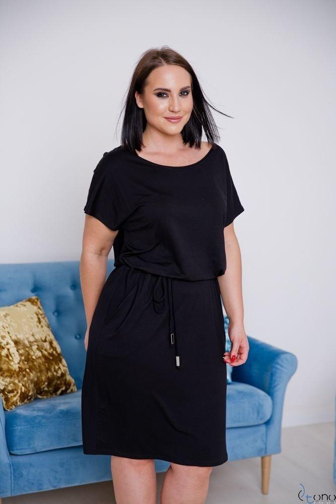 Czarna Sukienka CARLA Plus Size
