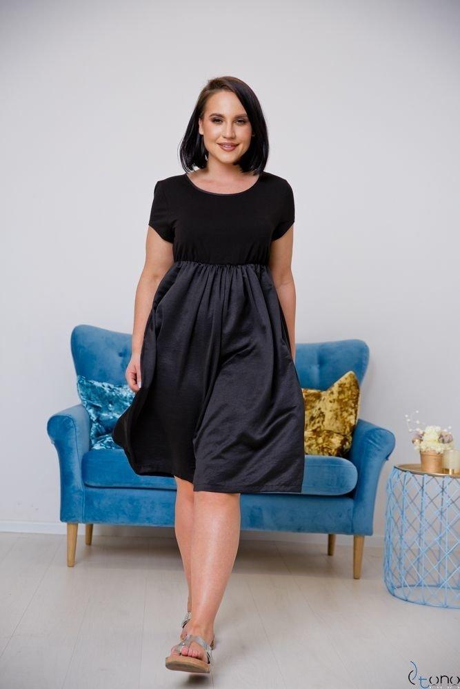 Czarna Sukienka FASIERA Plus Size