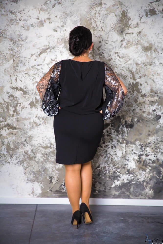 Czarna Sukienka FIDELJA Plus Size
