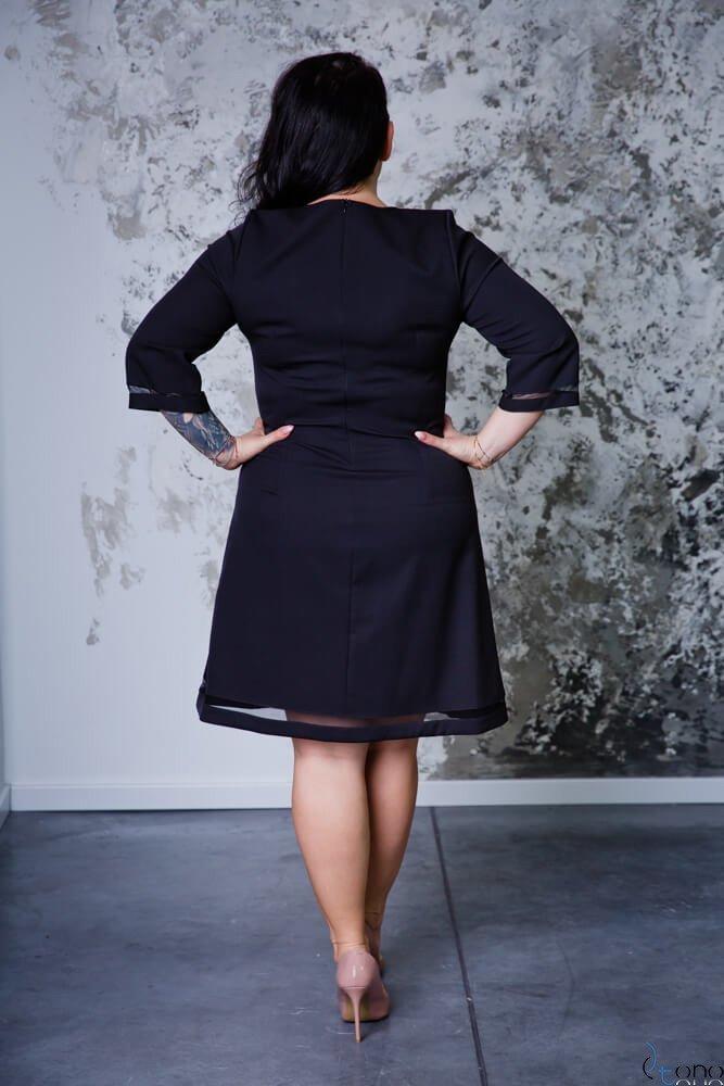 Czarna Sukienka LETICE Plus Size