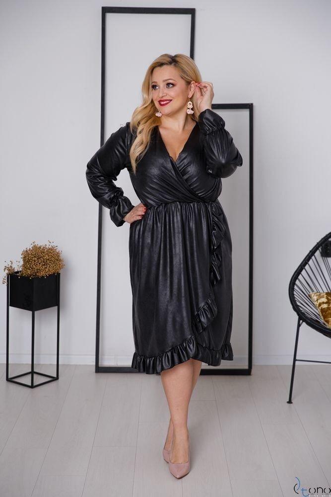 Czarna Sukienka MILAGROS Plus Size