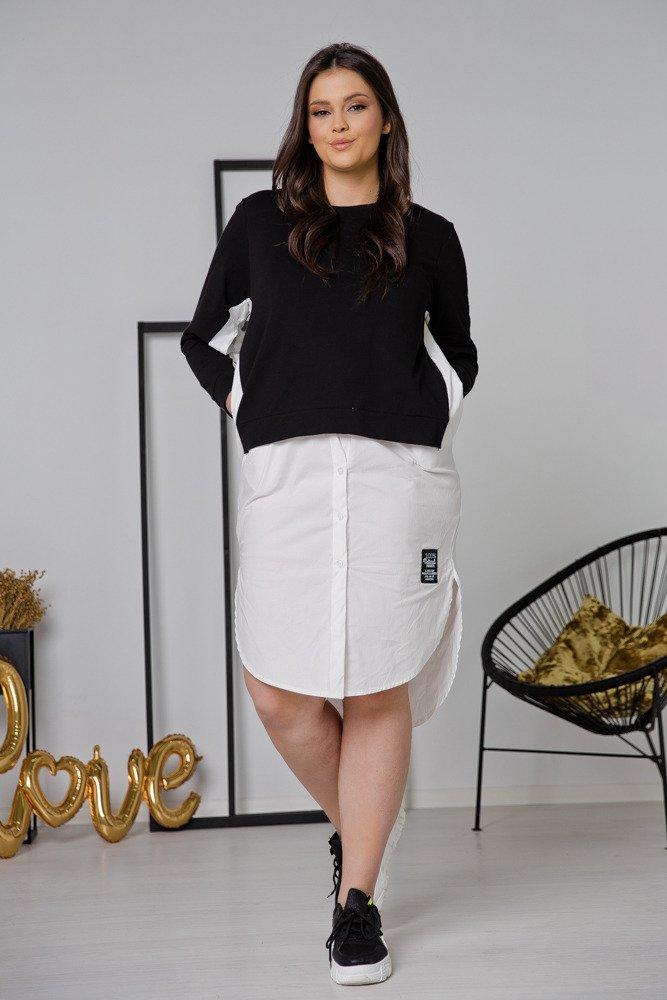Czarna Sukienka MODERNA Plus Size