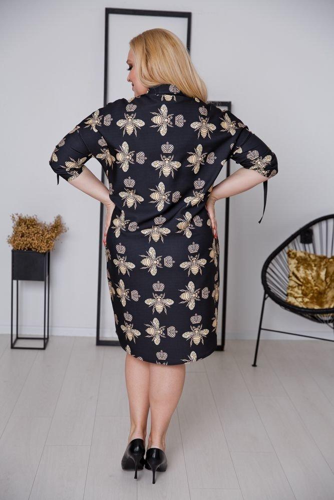 Czarna Sukienka RAMONA Plus Size wzór 1