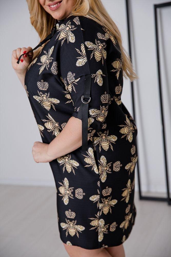 Czarna Sukienka RAMONA Plus Size wzór 2