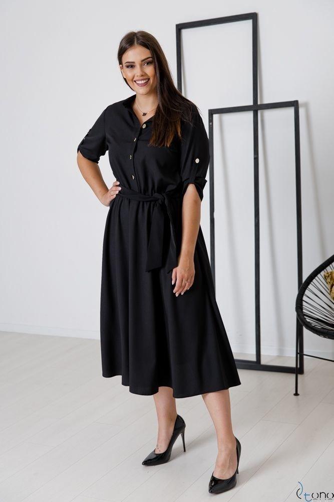 Czarna Sukienka RAVELA Plus Size