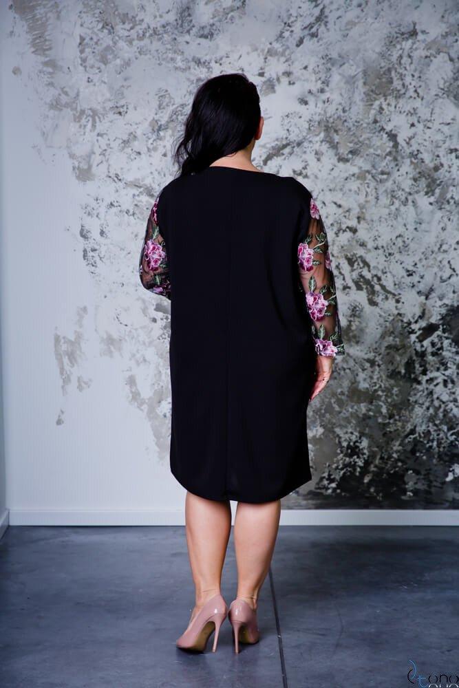 Czarna Sukienka TERERA Plus Size