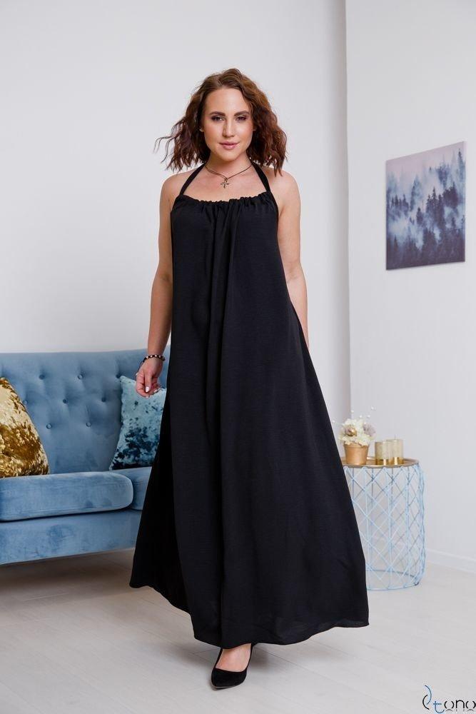 Czarna Sukienka VACAZIONA Plus Size