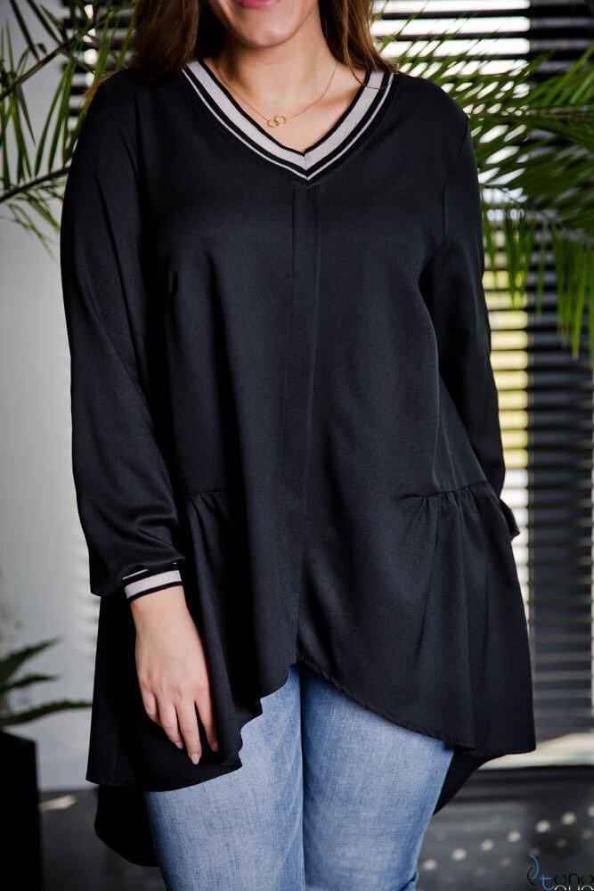 Czarna Tunika TORRINA Plus size
