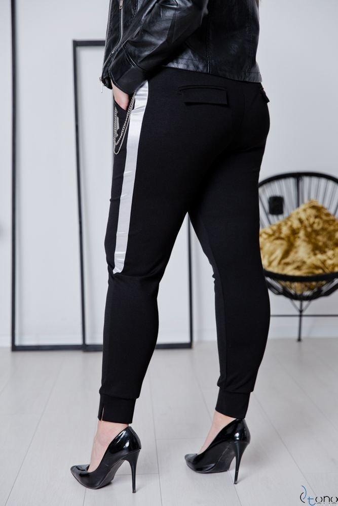 Czarne Spodnie GREMIO Plus Size