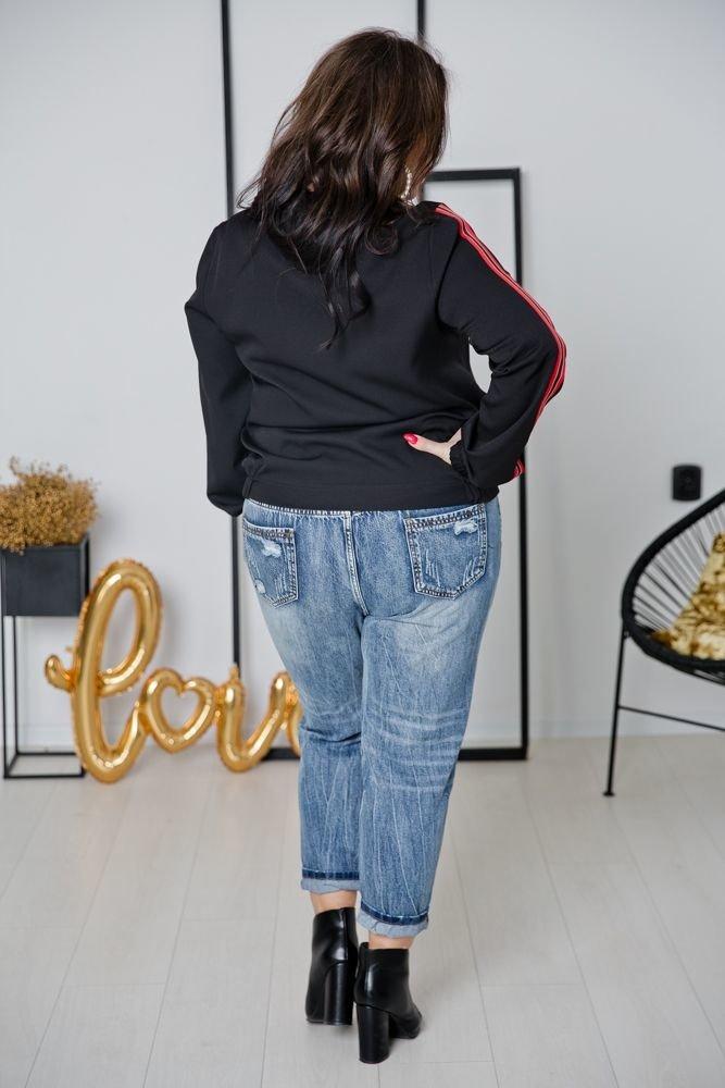 Czarno - czerwona Bluza ENCARA Plus Size