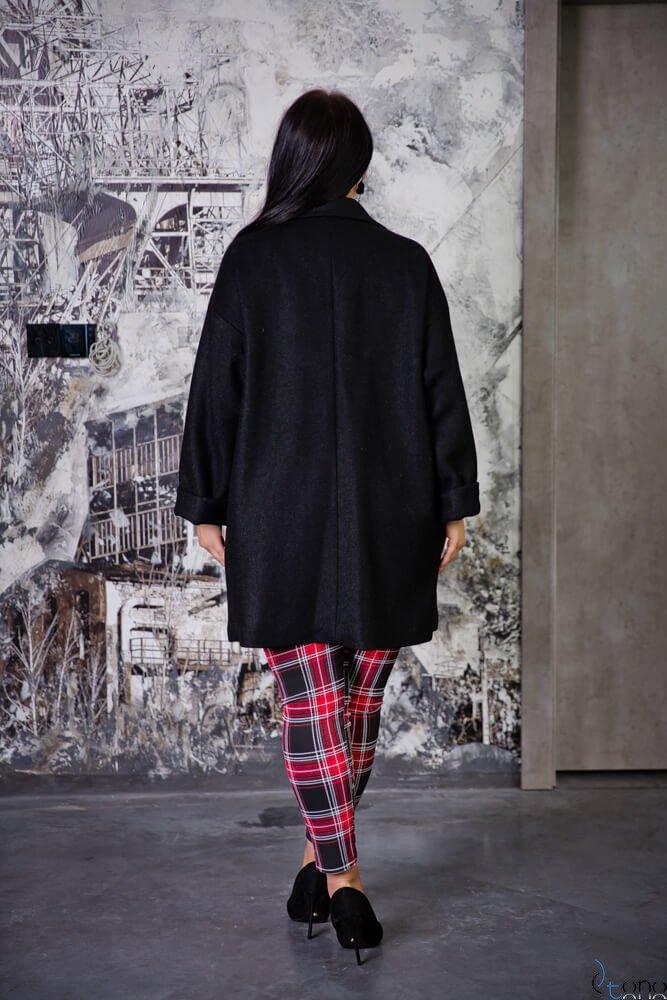 Czarny Płaszcz HOKER Plus Size