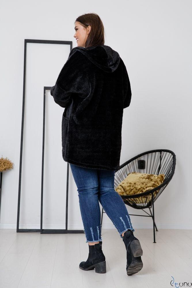 Czarny Płaszcz VERONICA Plus Size