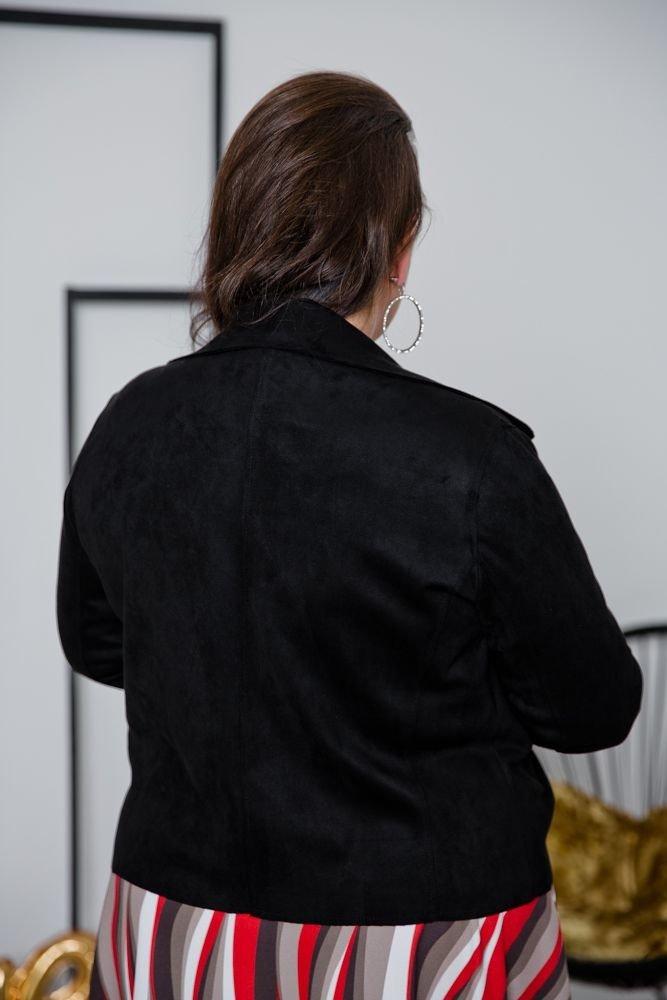 Czarny Żakiet MODALIA Plus Size