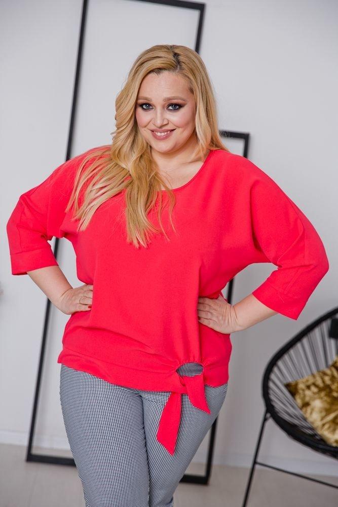 Czerwona Bluzka PANEA Plus Size