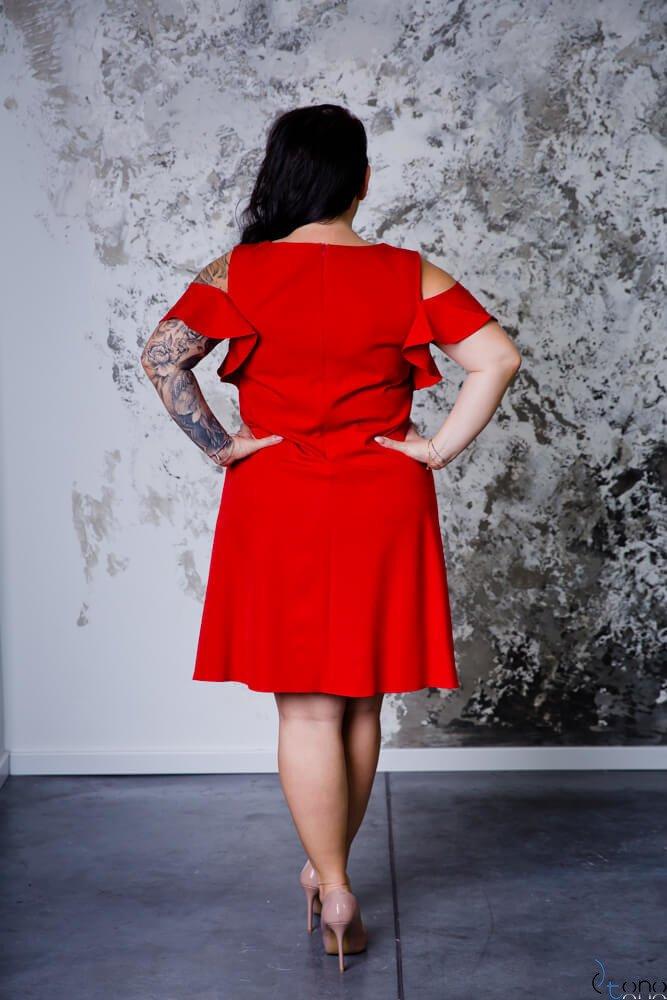Czerwona Sukienka BARBIE Plus Size