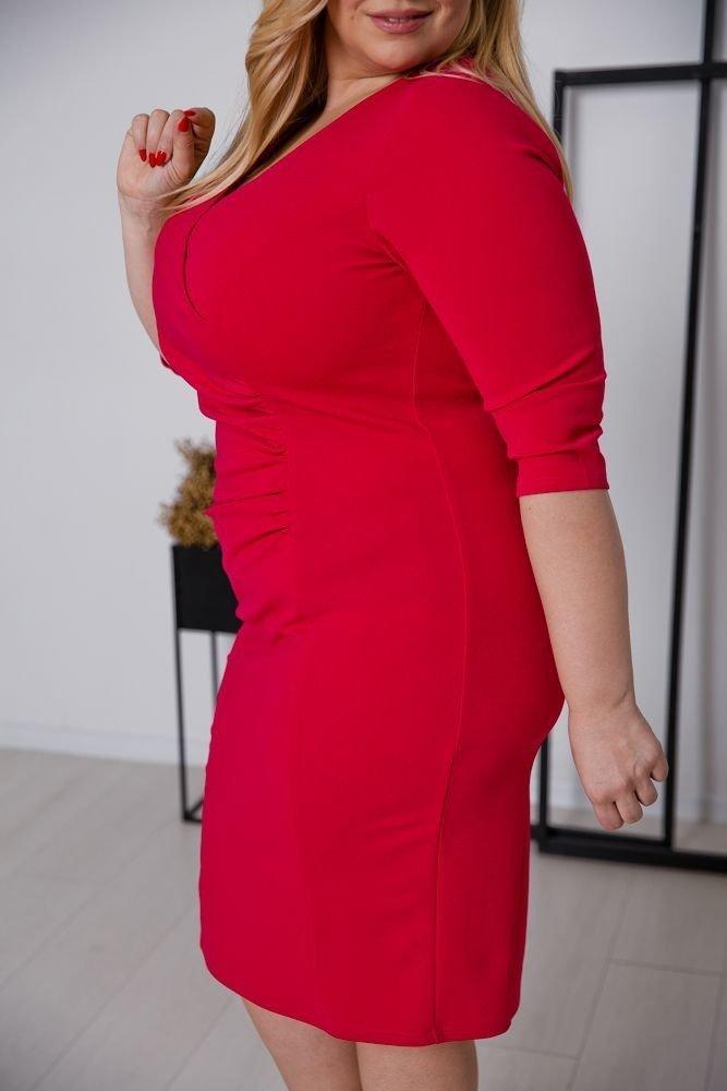 Czerwona Sukienka DEFINA Plus Size