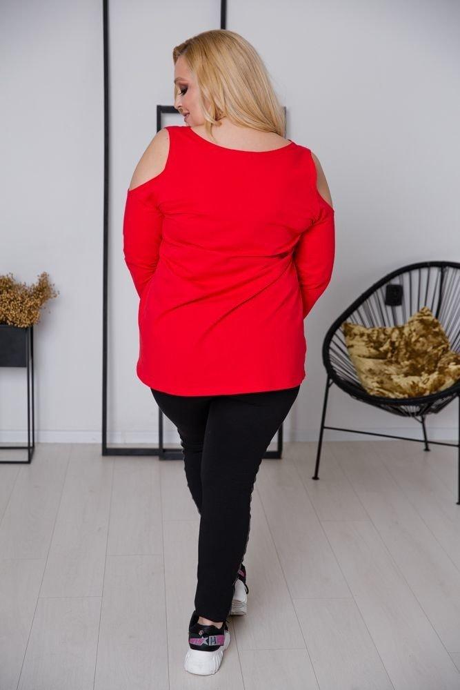 Czerwona Tunika WHEY Plus Size