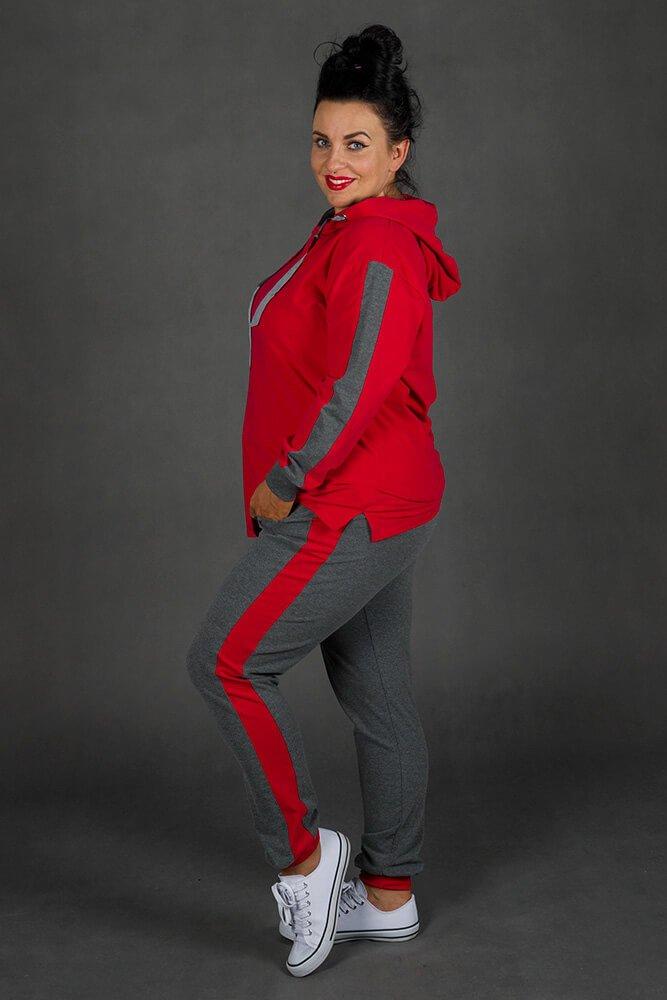 Czerwony Dres MONACO Plus Size