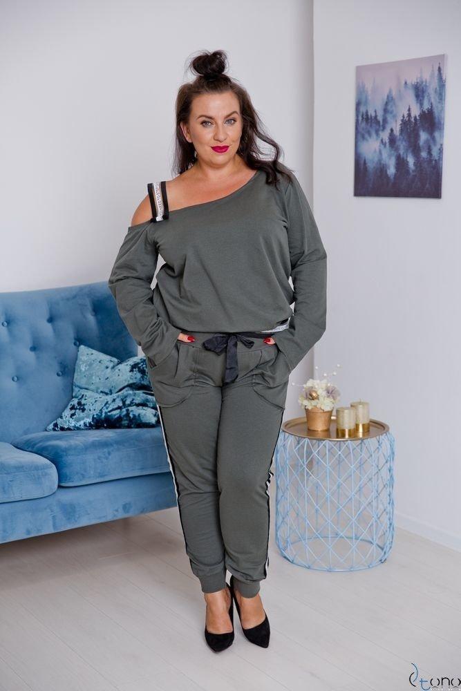 DRES MOTTIVA Khaki Plus Size