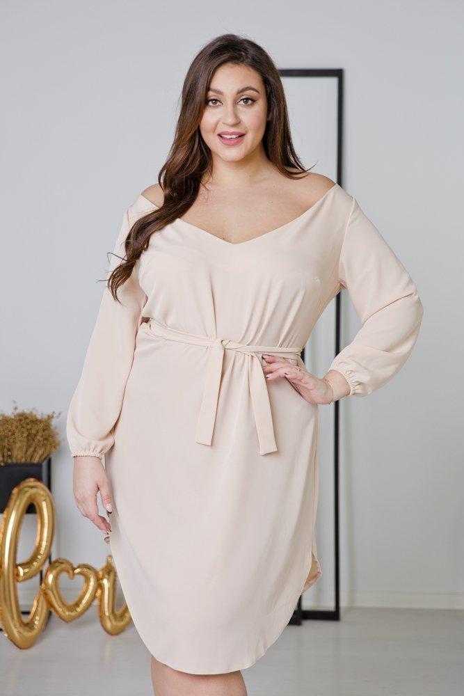 Ecru Sukienka TIANA Plus Size