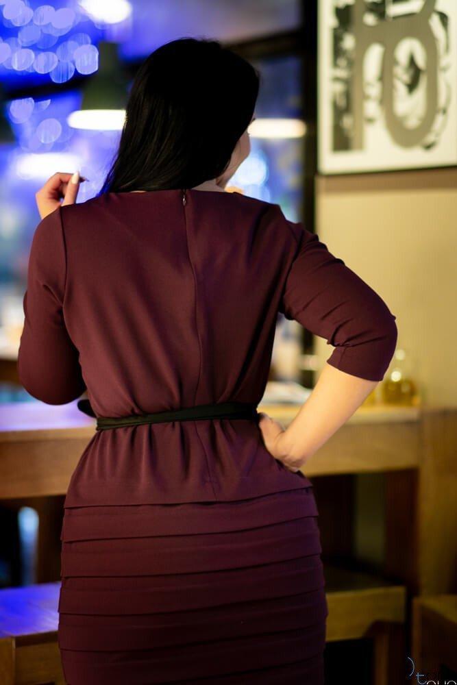Fioletowa Sukienka SOMBER Plus Size