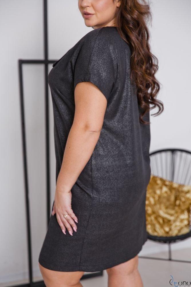 Grafitowa Sukienka TURRER Plus Size