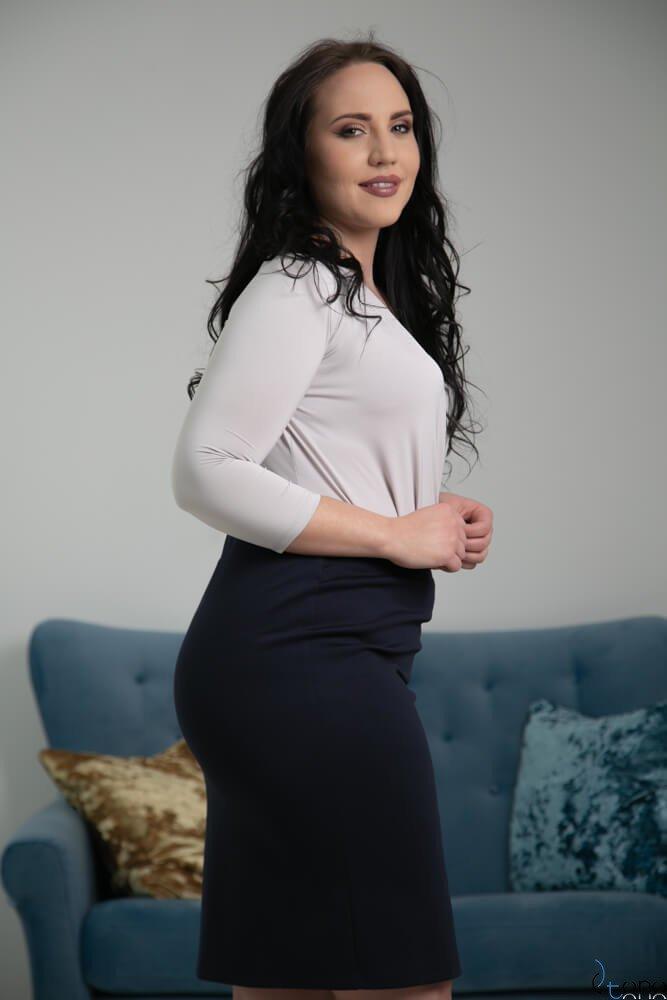 Granatowa Spódnica PILAR Plus Size