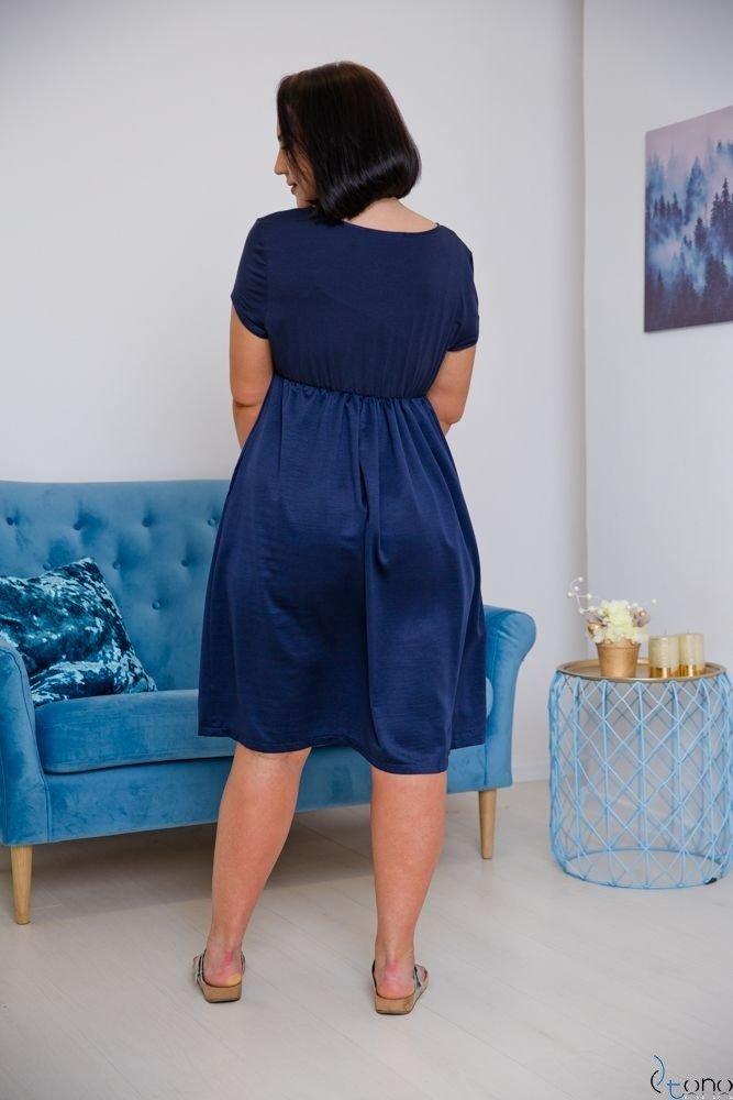 Granatowa Sukienka FASIERA Plus Size