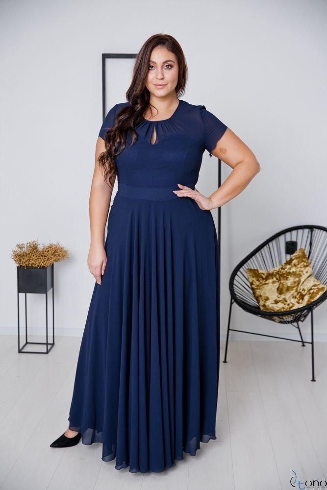 Granatowa Sukienka FORTALES Plus Size