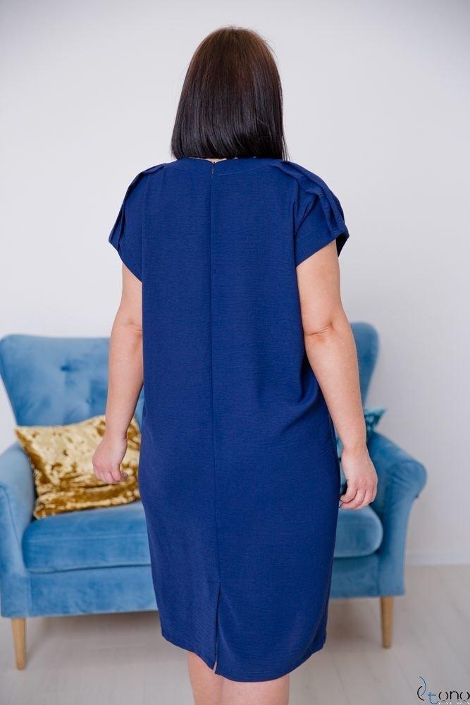 Granatowa Sukienka SISSY Plus Size