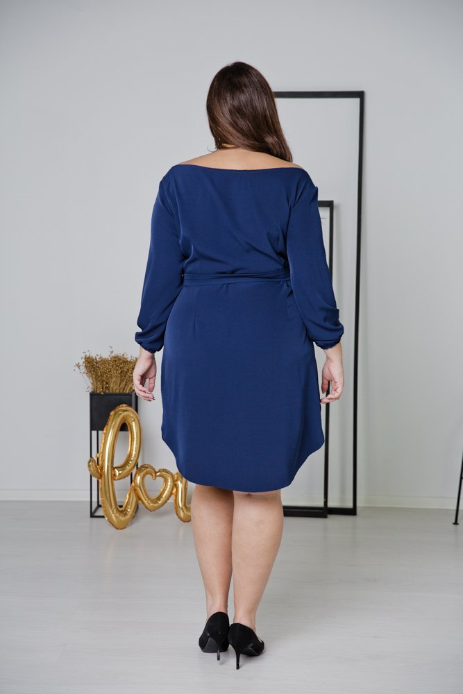 Granatowa Sukienka TIANA Plus Size