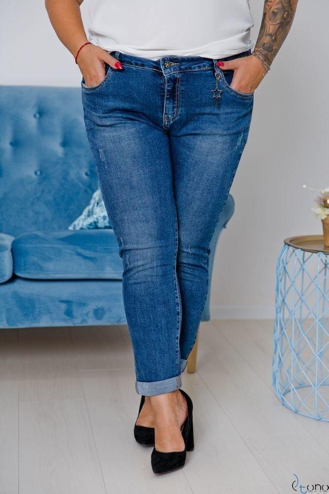 Granatowe Spodnie CLARISS Plus Size