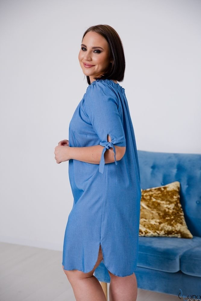 Jeansowa Sukienka FORTINA Plus Size