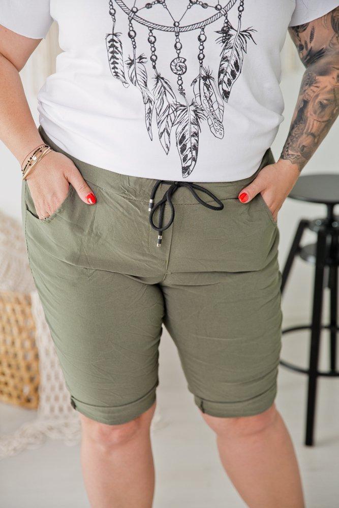 Khaki Spodnie BULETY Plus Size