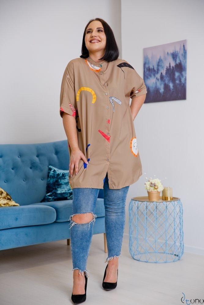 Koszula STAMP Plus Size Wzór 3