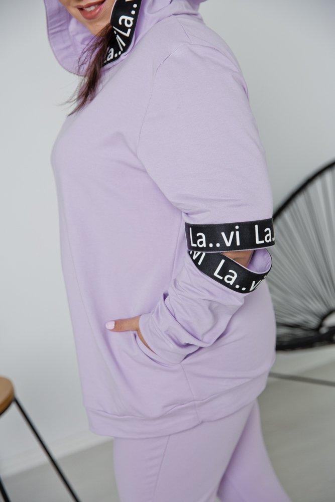 Liliowy Dres FALETT Plus Size