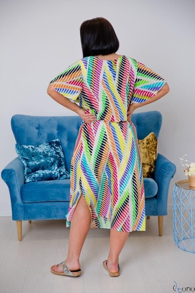 Multikolorowa Sukienka MEDAN Plus Size