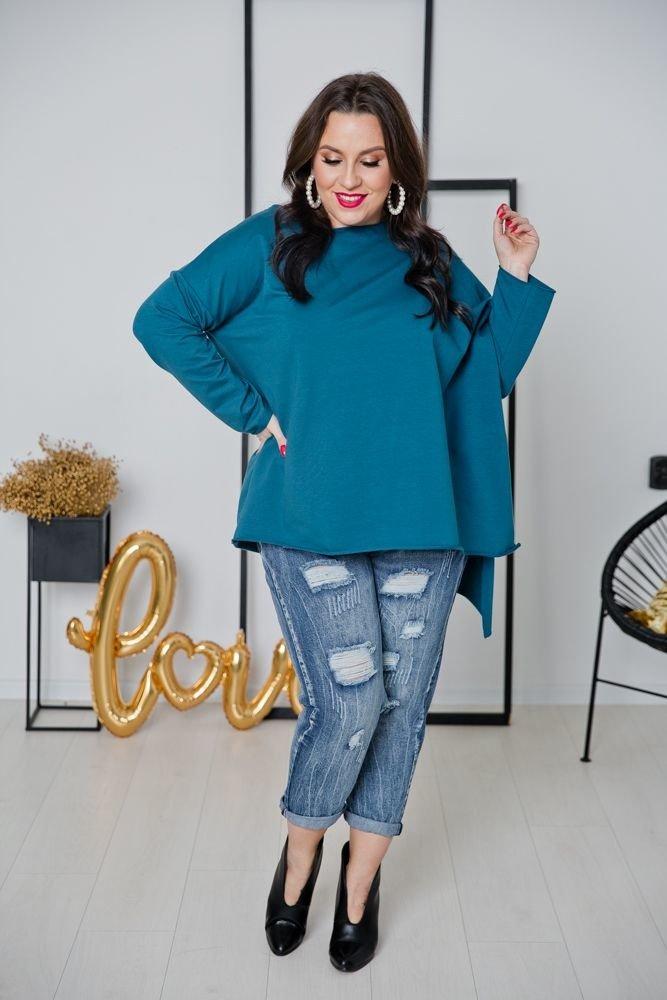 Niebieska Bluza ASTURIS Plus Size
