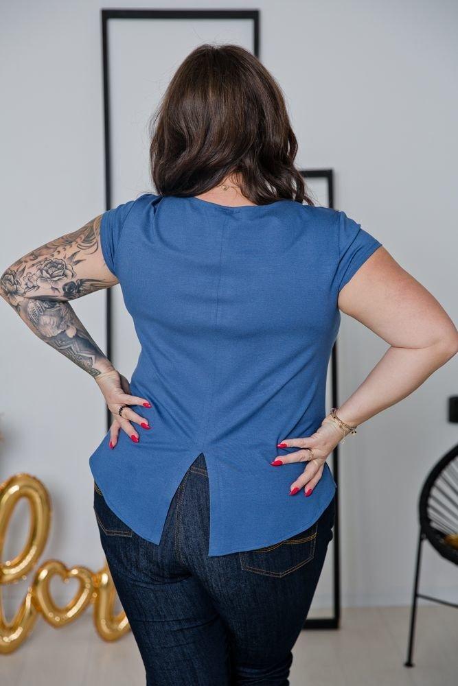Niebieska Bluzka ALMENA Plus Size