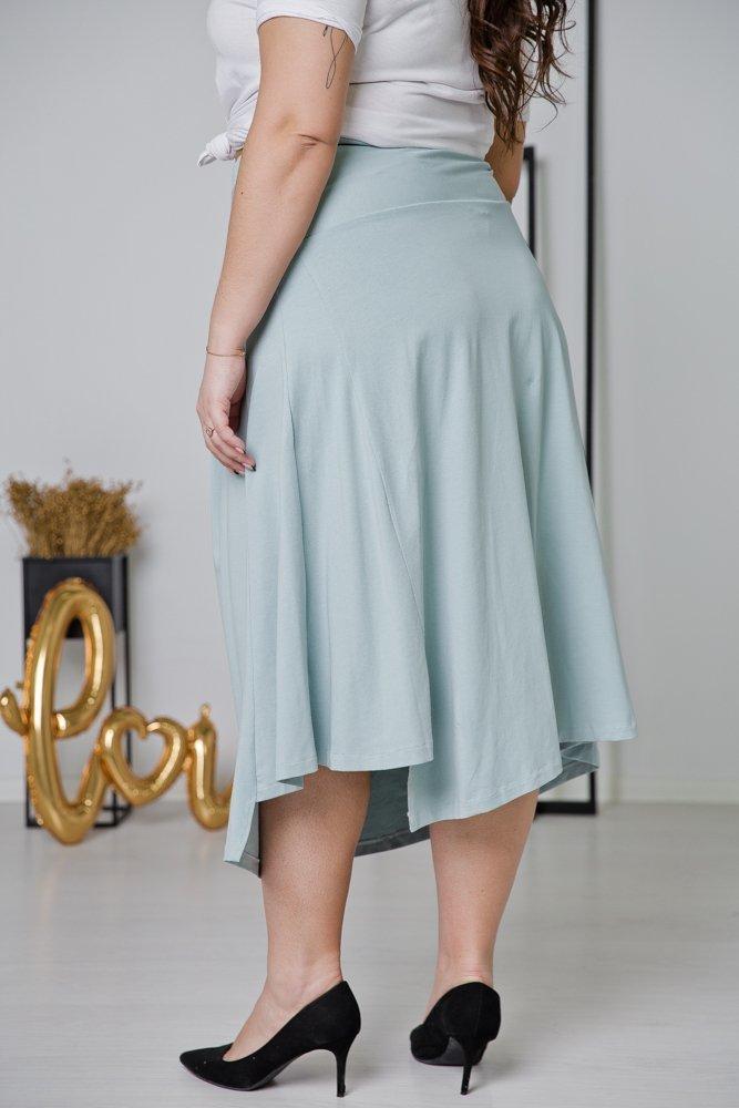 Niebieska Spódnica FREPA Plus Size
