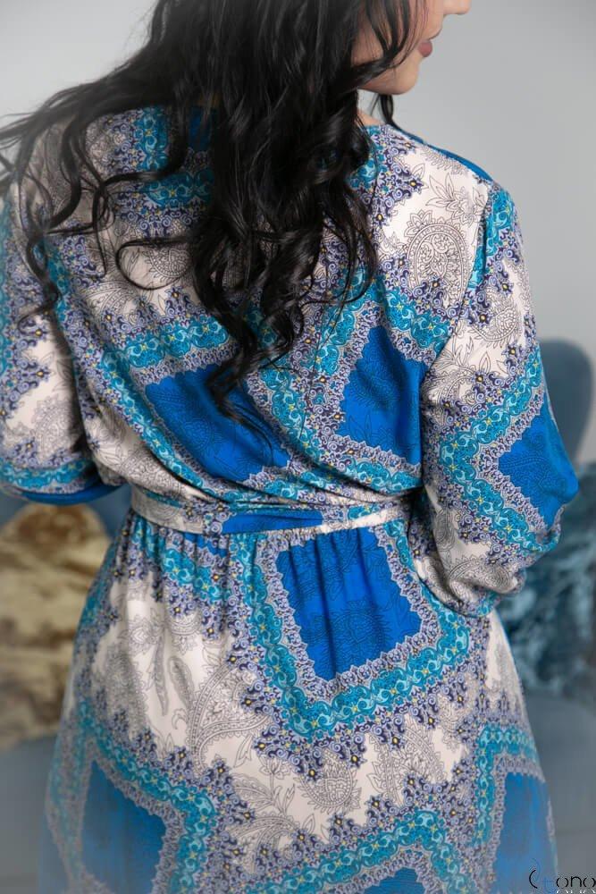 Niebieska Sukienka ELICCIA Plus Size