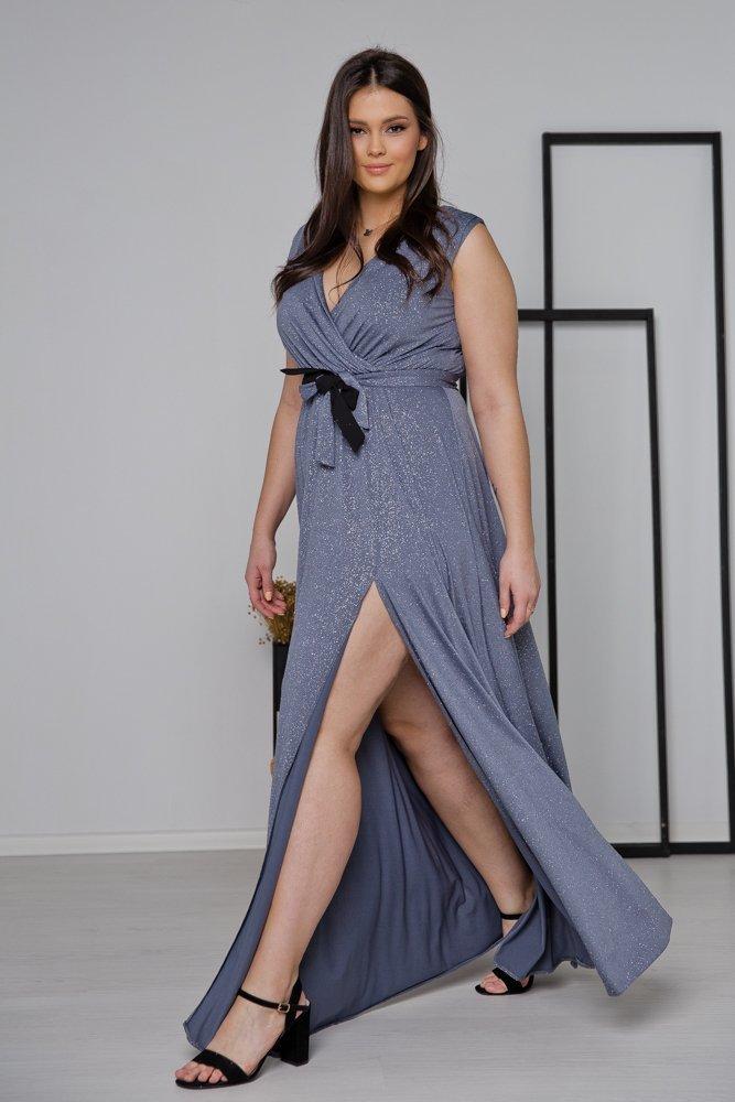 Niebieska Sukienka VOYAGE Plus Size