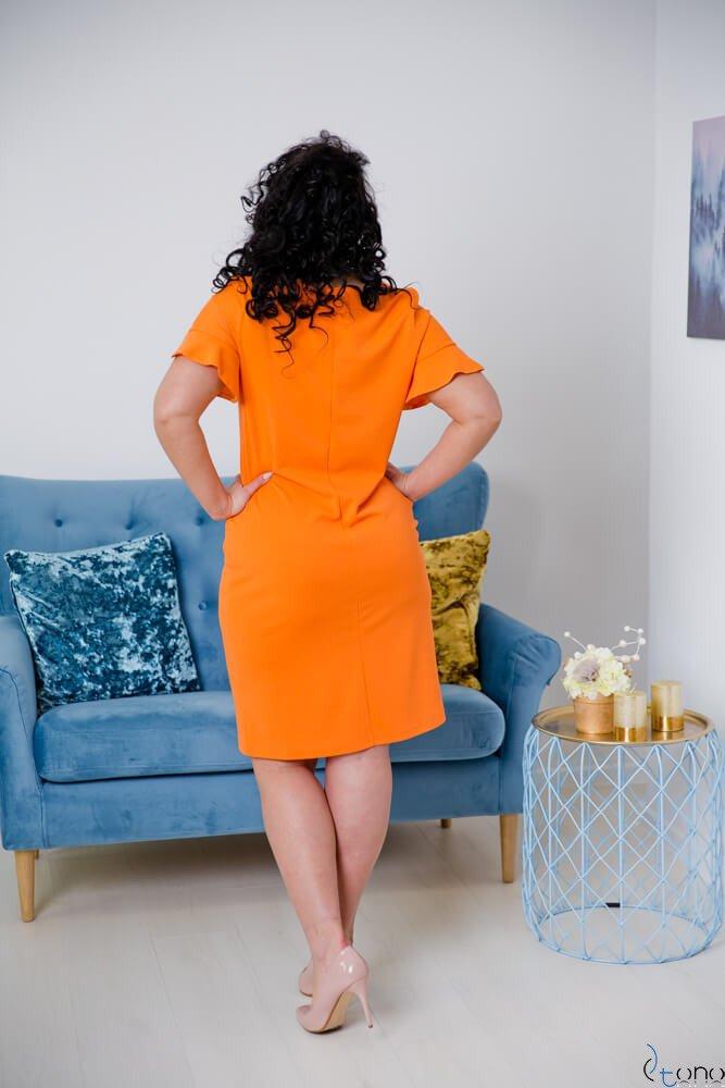 Pomarańczowa Sukienka VELMA Plus Size