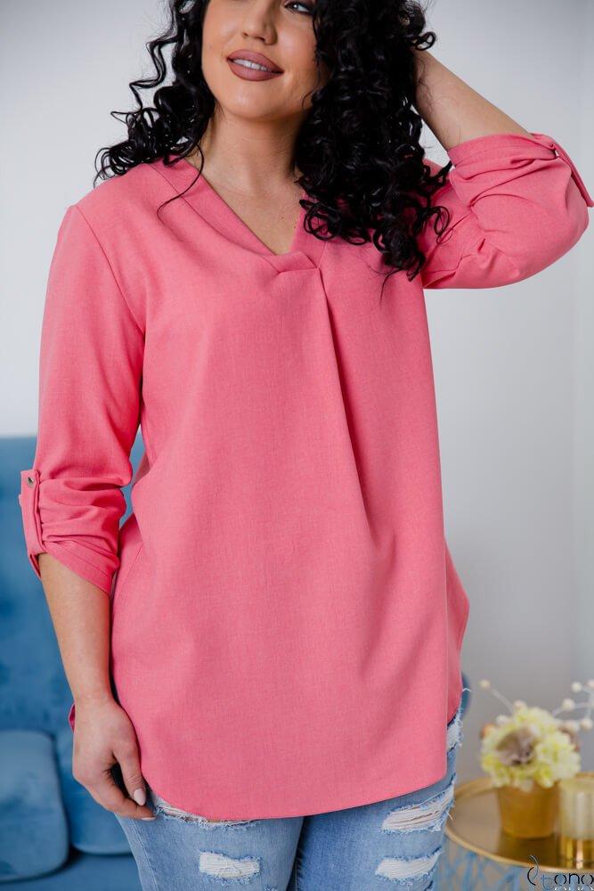 Różowa Bluzka JUSTIN Plus Size