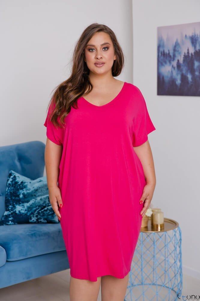 Różowa Sukienka  ARCERIA Plus Size