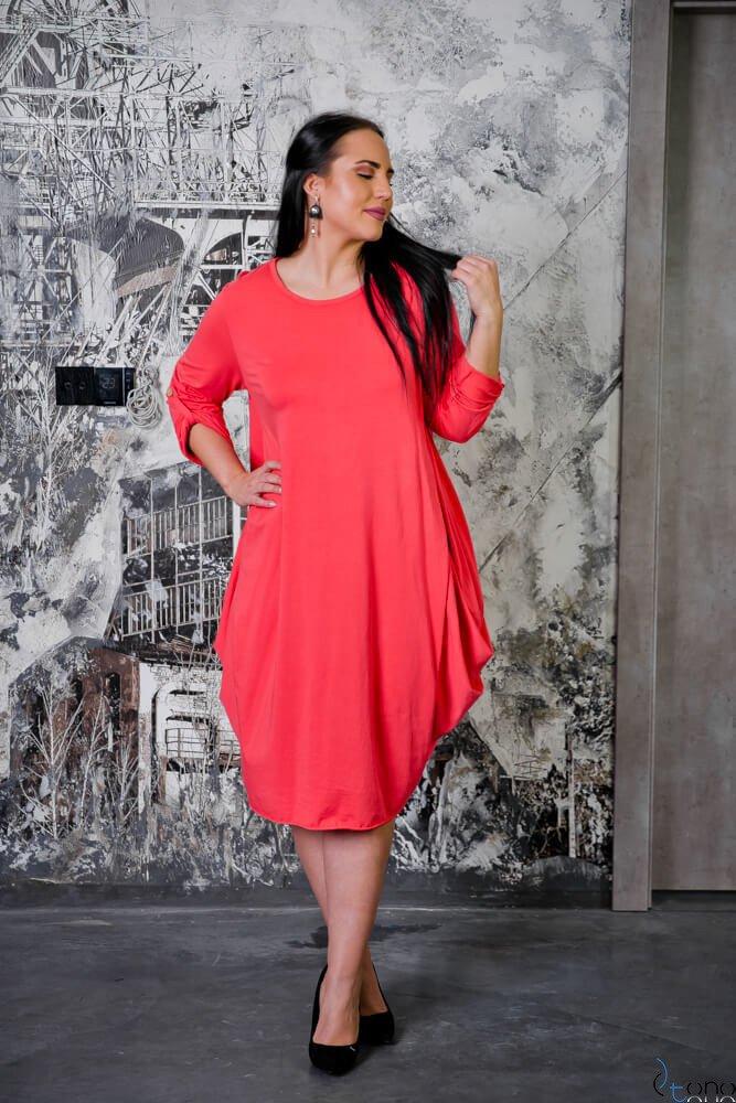 Różowa Sukienka SAYANA Plus Size