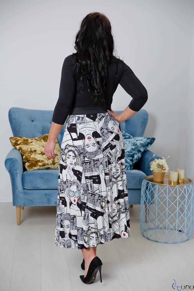 Spódnica TIZIANA Plus Size Wzór 1